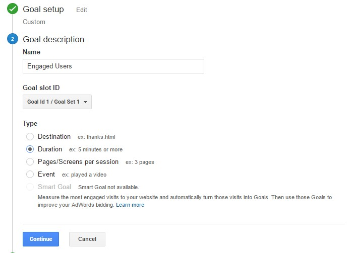 Google Analytics How to Track Engaged Users